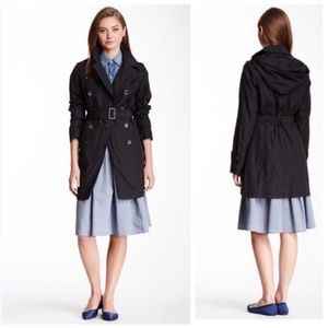 COLE HAAN Double Breasted Trench Coat with Belt